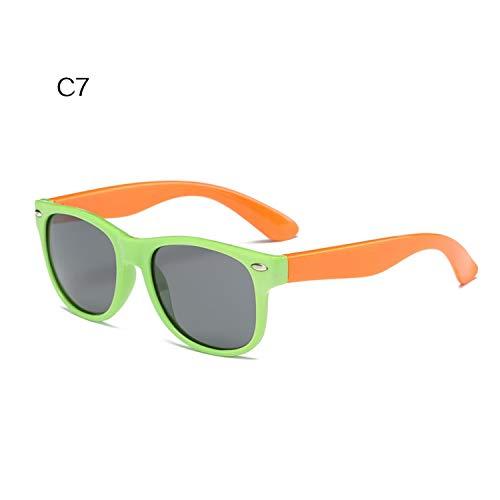 Daawqee Gafas de sol,Gafas para fiestas,Children Polarized Sunglasses Kids Boys Girls Ultra-Soft Silicone Glasses Fashion Child Baby Safety Sun Glasses UV400 C7