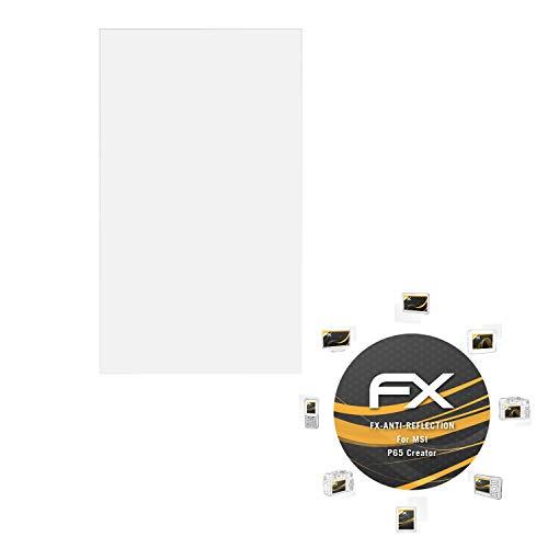 atFolix Panzerfolie kompatibel mit MSI P65 Creator Schutzfolie, entspiegelnde & stoßdämpfende FX Folie (2X)