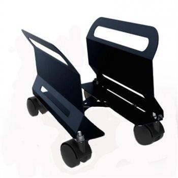 verstellbar PC Trolley schwarz mit drehbarem/gebremste Rollen