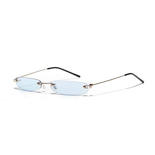 BAACHANG Mode Ultra Small Frame Sonnenbrillen, Marine Farbe Linsen für Frauen (Farbe : Blau)