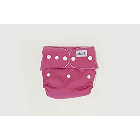* NUEVO para 2015 * Chunk Simple: talla única all-in-two Snap-In bolsa para pañales (Raspberry Sorbet)