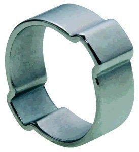 Raccords flexibles &en ligne, 22 mm, 25 mm, 2 oreille acier doux O Clip (lot de 10)