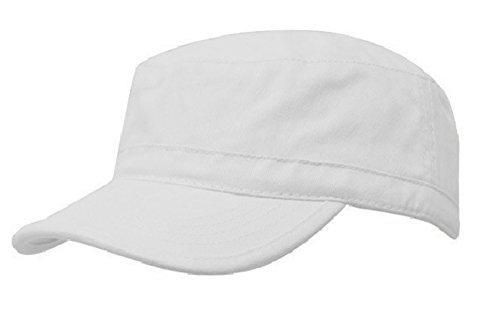 Camouflage Military Style Cap (Unisex Mütze Army Destroyed Cap Fidel Castro Kuba style Fullcap im Military Cadet Camouflage (White))