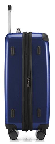 HAUPTSTADTKOFFER - Alex - NEU 4 Doppel-Rollen Hartschalen-Koffer Koffer Trolley Rollkoffer Reisekoffer, TSA, 65 cm, 74 Liter, Dunkelblau - 3