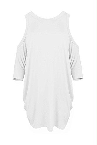 Sugerdiva Damen Dekolletiertes Kleid Weiß