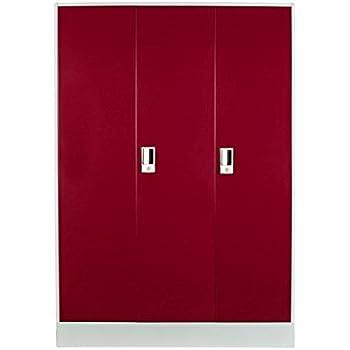 Lifestyle Solutions Zikrau0027s Almirah Metal Three Door Cupboard 6.6 Feet