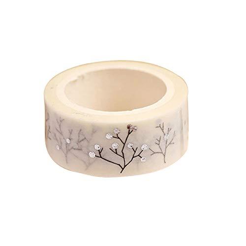 (AchidistviQ 2 Stück Wunschbaum DIY Papier Aufkleber Deko Washi Tape Schreibwaren Silber)