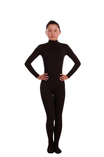 Howriis Unisex Lycra Spandex Zentai Unitard Bodysuit Gr. XX-Large, Schwarz