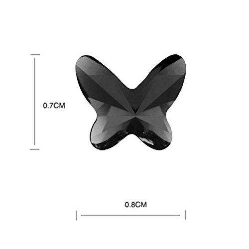 TAOTAOHAS- Boucles d'oreilles [ le baiser de papillon, améthyste ] fait avec Autrichien Cristal Stud Boucles d'oreilles, alliage 18KGP carats platine / or blanc, tchèque strass Jet Black (True Platinum Plated)