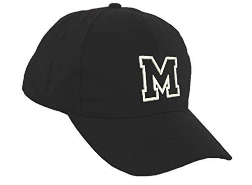 Romens Ltd Kinder Jungen Mädchen Schwarz Baseball Kappe Mütze Alphabet Buchstaben Sonnenschutz Hut (M)