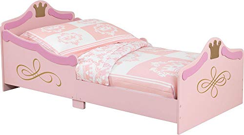 KidKraft 76139 Cama infantil con diseño princesa con marco de madera, muebles para dormitorio de niños