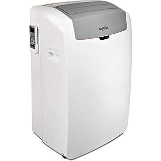 Whirlpool PL – Aire Acondicionado portátil, 9 K BTU o 2,5 KW, R290, Reversible, Bomba de Calor, Color Blanco, A+, A+