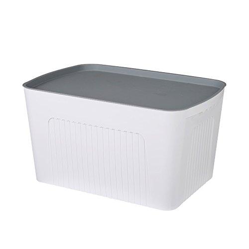 u-ecuerda die Dicke der Aufbewahrungsbox Kunststoff groß-Spielzeug, Kleidung Aufbewahrungsbox Snack Boxen WC Badezimmer Schrank built-bin organisieren, XL (42,5* 30* 25cm), Elfenbein Schmuck-schrank Elfenbein