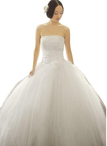 Donna Bella Formelle Liebsten geraffte Hochzeit Maxi-Kleid Bustier Gebrochenes Weiß-Kleid-Brautkleid (Belle Bustier Lace)