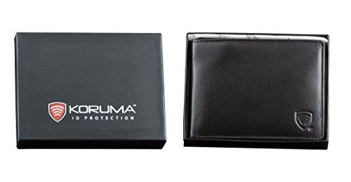 KORUMA ORIGINAL RFID Schutz Leder Geldbeutel (BRAUN) SCHWARZ