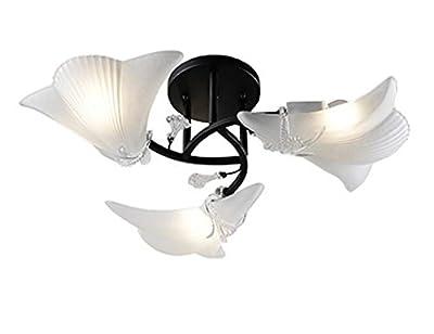 Shell lamp opal glass bowl Shade Chandelier Lamp Shell Ornaments Iron USA Rustic Glass Shade Ceiling Light White Rotatable Ceiling Bar Spot Ceiling Light Set Bedroom Grow Light Kit E27