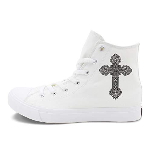 YAN Liebhaber Schuhe leinwand Sommer Herbst Klassische leinwand Schuhe high-top Casual Schuhe Mode high-top leinwand Schuhe Athletic Schuhe (Farbe : Weiß, Größe : 37) -