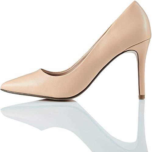 find. Point High Heel Leather Court Scarpe con Tacco, Beige), 38 EU