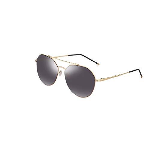 RJYJ Pilot Polarisierte Sonnenbrille, Natürliches Material Objektiv Anti-UVA (Color : Black)