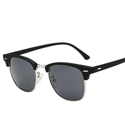Gafas Deportes al Aire Libre,VENMO Hombres Mujeres Cuadrado Gafas Vintage Gafas de Sol Espejo (C)