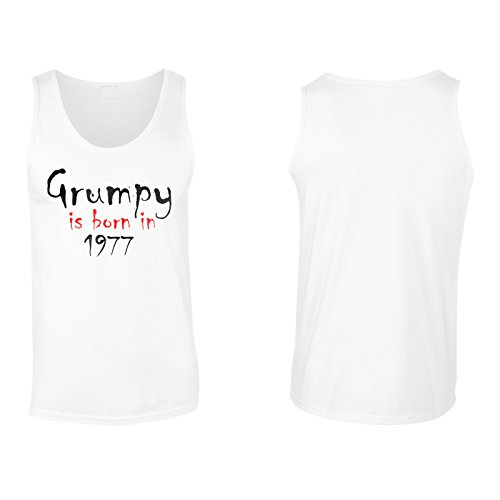Grumpy nasce nel 1977 canotta da uomo c234mt White