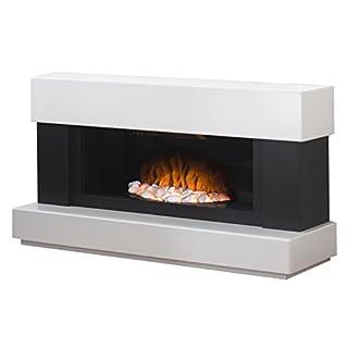 Adam Verona Freestanding Electric Fire, 2000 Watt, White/Grey