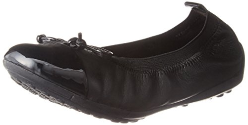 Geox Girls Jr Piuma Ballet Flats, Black (Black), 13 Child UK (32 EU)