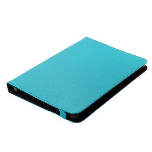 Bookstyle Tablet PC Tasche Etui Hülle Book Case hellblau mit Standfunktion geeignet für Samsung Galaxy Tab 4 10.1 LTE