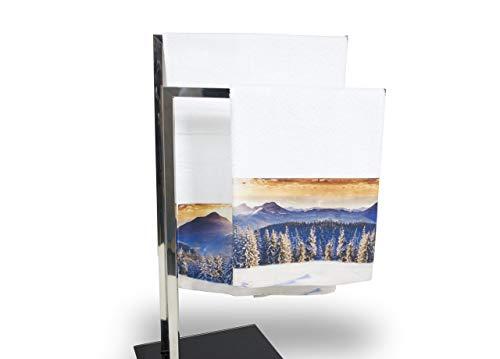 Set de serviettes et serviettes de bain en impression numérique ligne Natural Life dys. Paysage 25 Telo Bagno Paesaggio