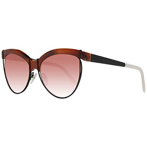 Emilio Pucci Unisex-Erwachsene EP0057 53Z 57 Sonnenbrille, Braun (Avana Bionda/Specchiato),