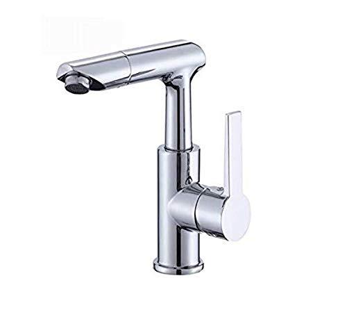 Sink Armaturen für Bathfaucettaps Komplettes Kupfer Küche - Wannen - Hahn 360 ° Rotating einzelnen Loch - Heiß- und Kaltwassermischer (Armaturen Wanne Einzelne)