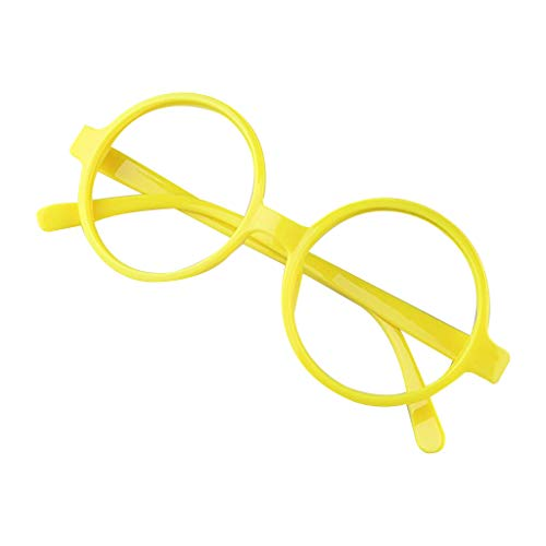 Candy Kostüm Nerds - YFairy Brillenrahmen - Retro Nerd Stil Niedlich Baby Runde Brille Rahmen ohne Gläser Candy Farbe Kunststoff Mutter Tochter Cosplay Party Kostüm Eyewear 2