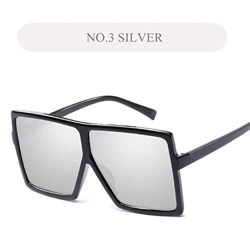 YHEGV Frauen übergroßen Sonnenbrillen großen Rahmen Sonnenbrille Männer transparenten Rahmen Vintage Spectascles Retro Sonnenbrille Brillen