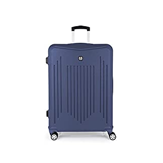 Gabol – Clever | Maletas de Viaje Grandes Rigidas de 53 x 76 x 30 cm con Capacidad para 100 L de Color Azul