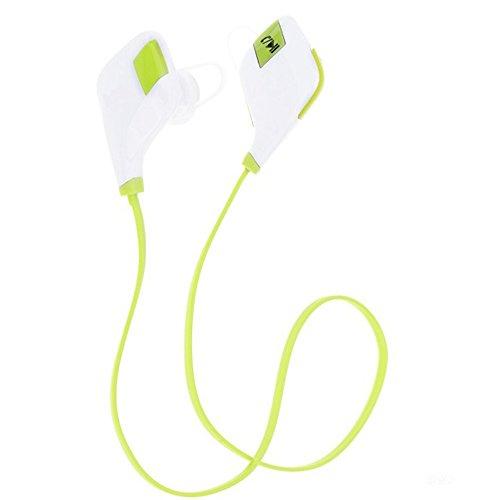 Meilun MG-5 Sport Bluetooth Ohrhörer Kopfhörer Headphone Headset apt-X CSR v 4.1 In Ear mit Mikrofon für iPhone 6 6S 6 Plus 6S Plus 5S 5 5C 4S 4, Samsung Galaxy S6 S6 Edge S5 S4 Mini (Weiß + Grün)