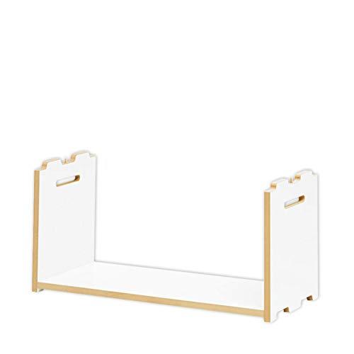 Tojo Hochstapler | Erweiterungsmodul für modulares Regalsystem | Weiß | Anbaumodul für EIN individuelles Wandregal/Bücherregal/CD Regal | MDF Regal