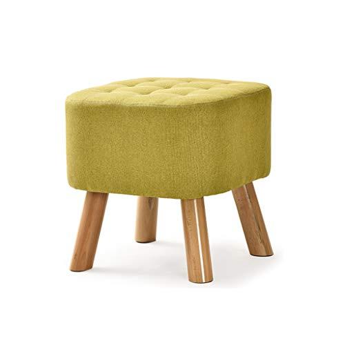 Fsgsgd piccolo sgabello sgabello imbottito pouf pouf da sgabello con 4 gambe in faggio, quadrato non sfoderabile (colore : verde)