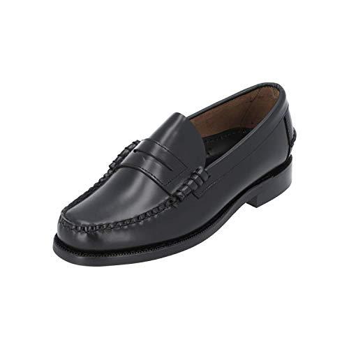 Sebago Men's Classic Dan Waxy Loafers Leather Black