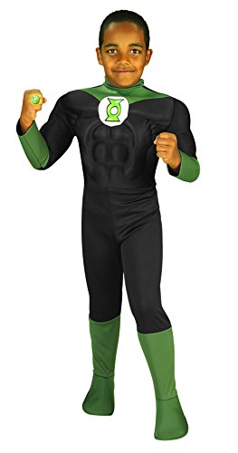 Rubie's Costume Green Lantern Deluxe Muscle Chest Child Costume, Medium by Rubie's Costume Co