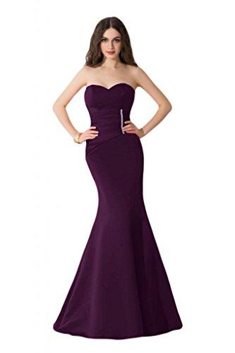 Sunvary taglio Slim Pageant sirena raso per abiti da sera, abiti in cartone di celebrità Purple