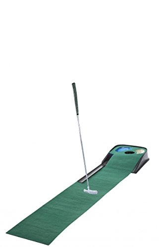 CEBEGO Golf Puttingmatte COMPLETE-Puttingteppich mit Putter & Golfball & Kühlschrankmagnet GOLF, Indoor-Put-Training Puttingset