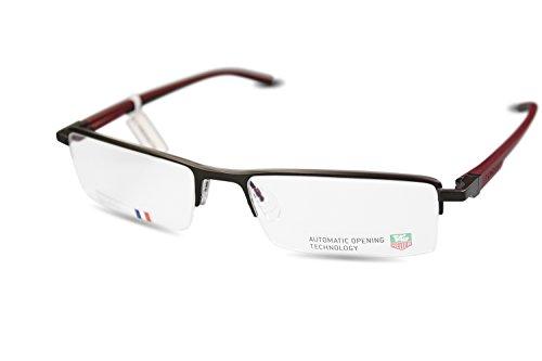 Preisvergleich Produktbild TAG HEUER Halbrand Brille TH0821 col.006 Braun,Rot, Schwarz/ 56[]18