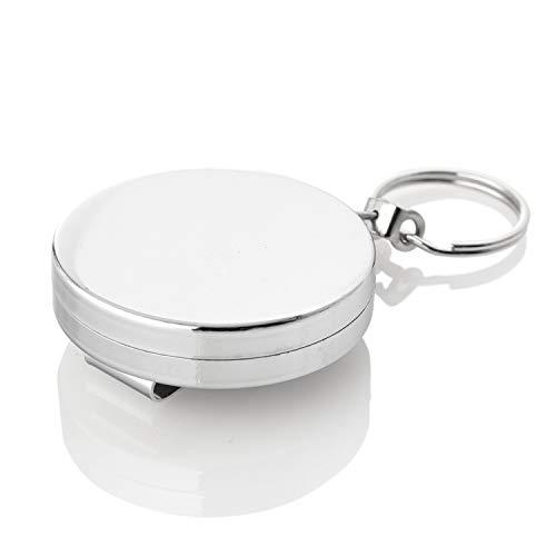 Kerafactum Schlüsselanhänger Rollzug Anhänger für Schlüssel mit automatischen Auszug und Einzug...
