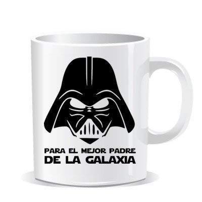 Imprimirlo.com Tazas Personalizadas Regalo Original día del Padre Taza Darth Vader para el Mejor Padre de La Galaxia