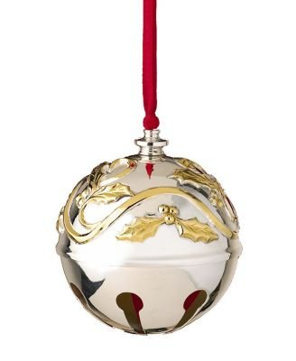 Lenox Argent plaque 2008annuelle sleighbell Décoration de Noël en traîneau Bell