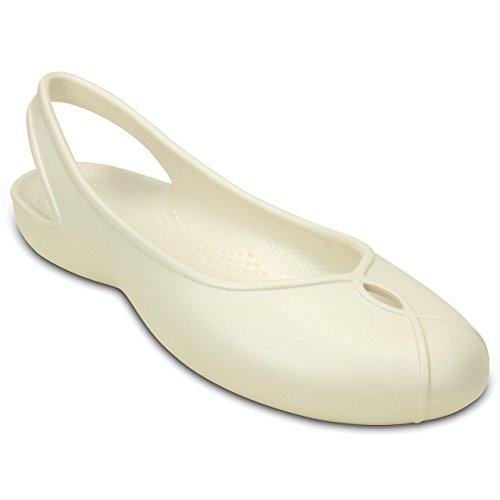 Crocs - Olivia II - Scarpe Sportive Basse con Cinturino - Donna Naturale