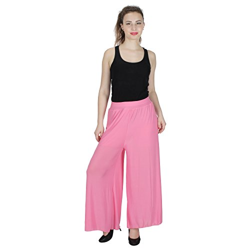 Ajaero Casual palazzo Free Size- Lycra (Light Pink)  available at amazon for Rs.199