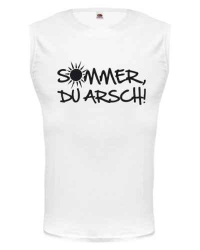 buXsbaum® Tank Top Sommer, Du Arsch! White-Black