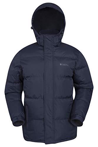 Mountain Warehouse Winterjacke für Herren - Wasserabweisende, warme Regenjacke, verstellbare Kapuze, Saum und Bündchen - ideal für Winter, Reisen und Alltag Marineblau Medium