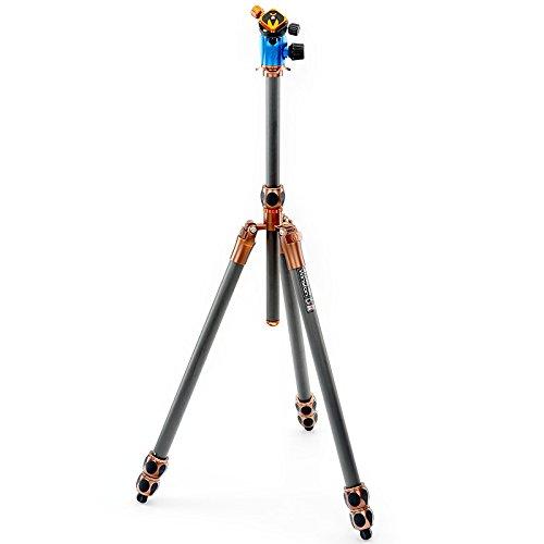 3 Legged Thing Equinox Winston Professionelles Heavy-Duty-Kamerastativ aus Carbon mit AirHed 360 Kugelkopf inkl. Einbeinstativ, 3 Segmente, 195 cm, 60 cm, 2,15 kg -